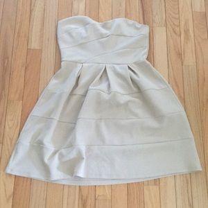 Finn & clover cream strapless dress